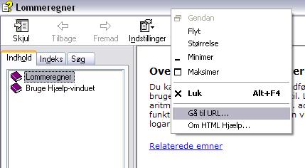 Gå til URL - Emner i hjælp